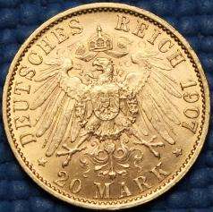 """Золотая монета 20 марок """"Вильгельм II"""""""