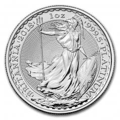 Платиновая монета Британия 1 унция (31,1 грамм) 100 фунтов