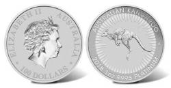 Платиновая монета Австралии Кенгуру (Platinum Kangroo) 100 Dollars, PT9995 1OZ