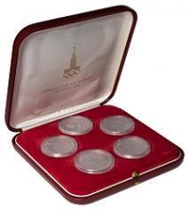 "Набор из 5 платиновых монет ""Олимпиада-80"""