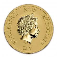 """Золотая монета Ниуэ """"Черепаха"""" 2017 год 1 OZ"""
