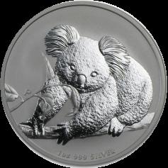 """Серебряная монета Австралии 1 Dollar """"Коала"""" 31,1 грамм 2010 и 2013 гг."""