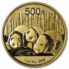 "Золотая монета Китая ""Панда"" разные года 31,1 грамм 201"