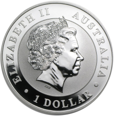 "Серебряная монета Австралии 1 Dollar ""Кукабарра"" 2011г"