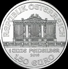 """Серебряная монета Австрии """"Венская Филармония"""", 1,5 евро 31,1 грамм"""