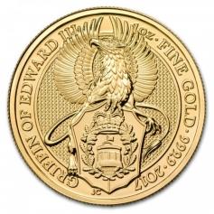 "Золотая монета Великобритании ""Грифон Эдуарда III""  2017 год 1oz"