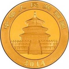 "Золотая монета Китая ""Панда"" 2014 год 1oz"