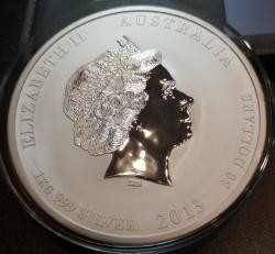 Серебряная монета 30 долларов Год Змеи 2013 года 1000 г
