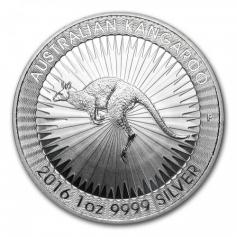 """Серебряная монета Австралии 1 Dollar """"Кенгуру"""" 1 oz 2019 туба 25 шт"""