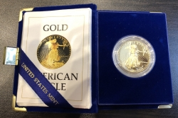 "Золотая монета ""Американский Орел"" Amerikan Gold Eagle PROOF, 50 долларов, пруф"
