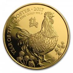 """Золотая монета Великобритании """"Год Петуха"""" 2017 год 31,1 грамм"""