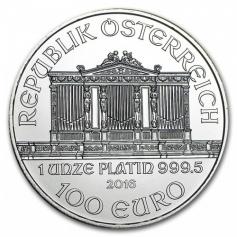 """Платиновая монета Австрии """"Венская Филармония"""" 1 унция 100 евро"""