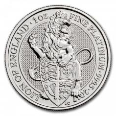 """Платиновая монета 100 фунтов """"Лев Англии"""", 2017 г., 31.1 гр. Pt999"""