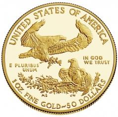"Золотая монета ""Американский Орел"" Amerikan Gold Eagle, 50 долларов"