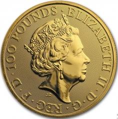 """Золотая монета Великобритании """"Сокол Плантагенетов"""" 100 фунтов 2019 года 31,1 г"""