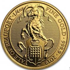 """Золотая монета Великобритании """"Йель Бофорта"""" 100 фунтов 2019 года 31,1 г"""