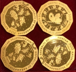"Золотая монета ""Лунный календарь"" (Казахстан), 500 тенге"